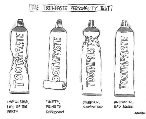 Tubul de pasta de dinti iti dezvaluie personalitatea
